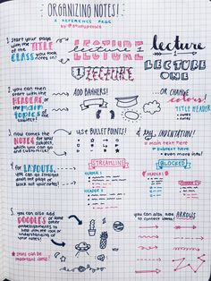 how to organize notes | Tumblr
