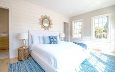 Master Bedroom John Robshaw bedding Serena and Lily denim rug