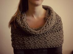 Crocheted cowl / hoodie and skirt in one! Can also be used as a shrug!