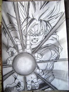 Goku Drawing, Ball Drawing, Dbz Drawings, Cool Art Drawings, Goku E Vegeta, Anime Character Drawing, O Pokemon, Art Anime, Anime Sketch