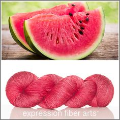Expression Fiber Arts, Inc. - WATERMELON RED 'LUSTER' SUPERWASH MERINO TENCEL SPORT YARN , $24.00 (http://www.expressionfiberarts.com/products/watermelon-red-luster-superwash-merino-tencel-sport.html)