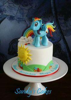 Rainbow Dash ~ My Little Pony cake