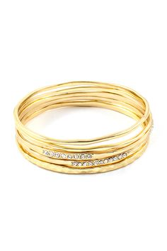 Stacked Golden Crystal Isis Bracelet | Awesome Selection of Chic Fashion Jewelry | Emma Stine Limited