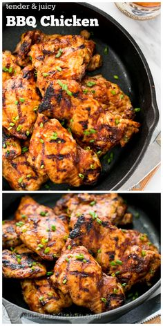 The best BBQ chicken I've tried and it's so simple! This one's going into the regular rotation at our house (includes instructions to grill or bake this chicken) @NatashasKitchen