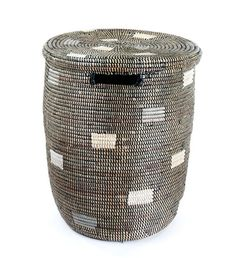 Black Dotted Peace Corps Basket from Swahili Modern | Swahili Modern