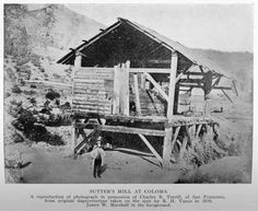 The first gold that was discovered and prompted the Gold Rush was found in Sutter's mill on January 24th, 1848.