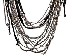 Goti | Multi Chain and Leather Necklace in Necklaces Chains at TWISTonline