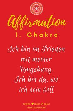 positive affirmation wurzelchakra 1. Chakra muladhara rootchkra chakrs chakren chakabalancing chakrahealing offenheit einladen yoga meditation selbstliebe selfcare selflove intuition chakrayoga chakrameditation chakrasystem mantra umgebung frieden angekommen ich bin rot Think Positive Thoughts, Chakra Affirmations, Yoga Meditation, Intuition, Mantra, Law Of Attraction, Mindfulness, Positivity, Neon Signs