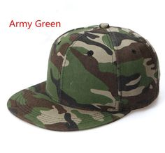 2016 New Fashion Sports Men's Baseball Caps Solid Camo Snapback Caps Gorras Planas