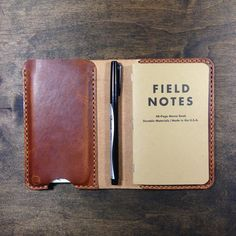 Horween leather journal for iPhone 6 and Field / KochLeather / Arizona