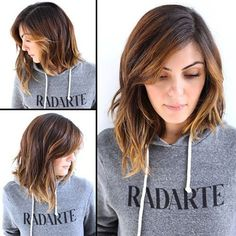 shoulder length haircuts with layers and side swept bangs - Google Search