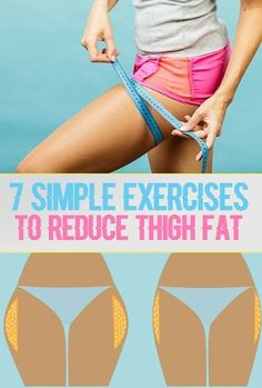 7 Simple Exercises to Reduce Thigh Fat. 7 Simple Exercises to Reduce Thigh Fat. Fitness Workouts, Sport Fitness, Body Fitness, Easy Workouts, Fitness Diet, At Home Workouts, Fitness Motivation, Health Fitness, Health Club