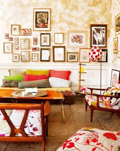Un apartamento bohemio con color. Salón