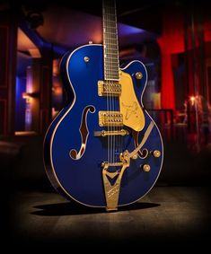 Gretsch G6136T Limited Edition Falcon™ with String-Thru Bigsby® in Azure Metallic