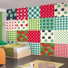 Fotomurales - Infantiles - Patchwork verde