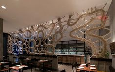 Mantzalin - Hand made rope screen for a New York restaurant