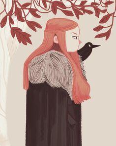 Snow Queen, an art print by Nan Lawson Game Of Thrones Art, Sansa Stark, Snow Queen, Winter Is Coming, Character Illustration, Game Art, Art Inspo, Character Design, Character Inspiration
