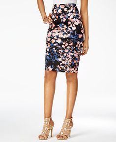 Thalia Sodi Printed Scuba Pencil Skirt, Only at Macy's - Thalia Sodi - Women - Macy's