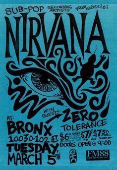 Weekly Inspiration Dose 063 - Indieground Design #graphicdesign #design #art #inspiration #posterdesign #gigposter #flyer #music #concert #nirvana #grunge #90s #1990s