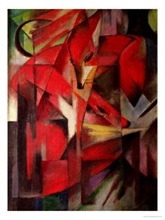 The Fox, 1913 by Franz Marc. Giclee print from Art.com.