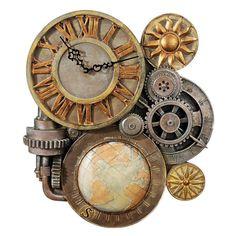 Gears of Time Sculptural Wall Clock: Medium