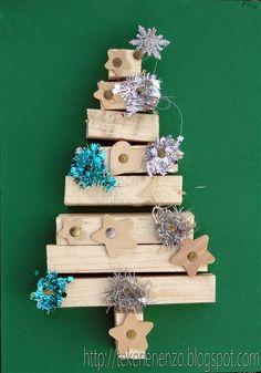 Tekenen en zo: Houten kerstboom