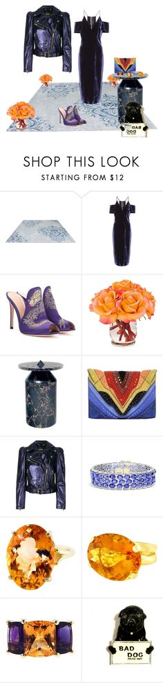 """Untitled #569"" by matan-sowatskey ❤ liked on Polyvore featuring Roland Mouret, Gianvito Rossi, The French Bee, Elena Ghisellini, Diesel, Effy Jewelry, Gemjunky, Valentin Magro and Humör"