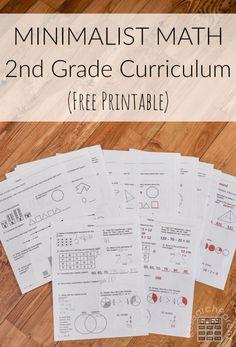 Minimalist Math Curriculum - Second Grade