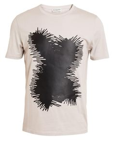BALENCIAGA | Cotton T-shirt with Leather Splatter Motif