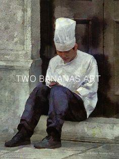 176 On Line Chef by Richard Neuman Digital Media ~ 24 x 18