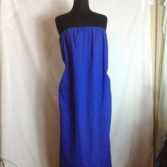 J. Crew strapless maxi dress J. Crew strapless royal blue cotton maxi dress with pockets J. Crew Dresses Maxi