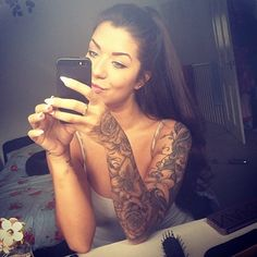 ♥ full sleeve tattoo ♥