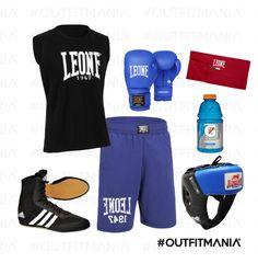 Boxing | Pantaloni corti e t-shirt senza maniche, in materiale traspirante... |  #outfitmania #outfit #style #fashion #dresscode #amazing #box #Leone #casco #pants #man #sportstyle #guantoni #adidas | CLICCA SULLA FOTO PER SCOPRIRE L'OUTFIT E COME ACQUISTARLO