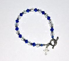 Genuine Swarovski Crystal Sapphire September by IslandGirl77, $13.99