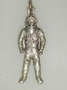 Vintage Sterling Silver Astronaut Charm