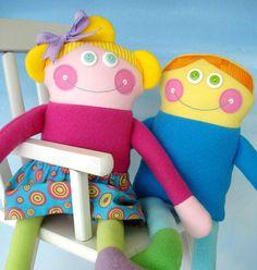 DIY Sewing pattern for cute dolls