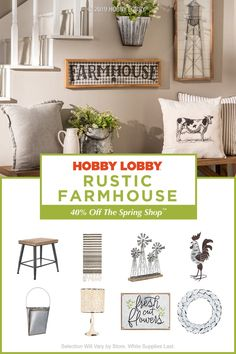 off the spring shop™ at hobby lobby shabby chic farmhouse, farmhouse style Shabby Chic Farmhouse, Farmhouse Decor, Farmhouse Bathrooms, Farmhouse Style, Hobby Lobby, Diy Home Decor, Room Decor, Home Living Room, Home Decor Inspiration