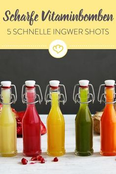 Get fit! 5 vitamine-loaded ginger shots Get fit! 5 vitamine-loaded ginger shots The post Get fit! 5 vitamine-loaded ginger shots appeared first on Getränk. Detox Drinks, Healthy Drinks, Healthy Eats, Healthy Detox, Nutrition Drinks, Easy Detox, Ginger Sweets, Law Carb, Veggie Juice