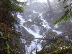 Jaziersky vodopád.Prístupný. Asi 10 metrov vysoký kaskádovitý vodopád vytvorený na ľavom prítoku potoka Revúca v ružomberskej miestnej časti Jazierce patrí k početným prírodným atraktivitám okolia Ružomberku. Nevedie k nemu značený chodník, nachádza sa však len kúsok od cesty vedúcej k známej prírodnej pamiatke Jazierske travertíny.