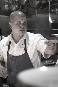 """""""We show up everyday to do what we love. No one gets that feeling like chefs do. Sense of urgency with finesse is key. I would get nowhere if I didn't have the people standing to my left and right every night at 5pm. """" - Brad Wise, executive chef at TRUST Restaurant in San Diego, CA"""