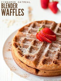 Cinnamon Oatmeal Blender Waffles
