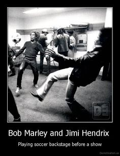 "A couple of legends just having fun! ""Love the life you live, live the life you love"" ~ Bob Marley, who would have been 67 today!"