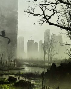 The Northeast Remnants Apocalypse World, Apocalypse Art, Arte Zombie, Post Apocalyptic City, Apocalypse Aesthetic, Dark Ages, End Of The World, Sci Fi Art, Story Inspiration