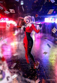 Margot Robbie - Harley Quinn by kaethor on DeviantArt Joker Y Harley Quinn, Harley Quinn Drawing, Margot Robbie Harley Quinn, Harley Quinn Cosplay, Dc Universe, Harey Quinn, Catwoman Cosplay, Gotham Girls, Gotham City