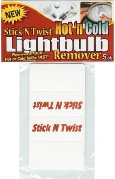 Stick 'N Twist is a easy to use foldable disk handle that removes/installs hard to get inset floods or stuck bulbs that are hot or cold. Price: $4.95.