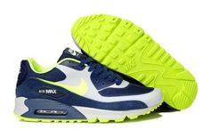Cheap For Sale Air Max 90 Hyperfuse Men Shoes Blue White Grey