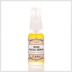 Caru Skincare Co Rose Facial Serum. With jojoba, pomegranate & evening primrose oil.