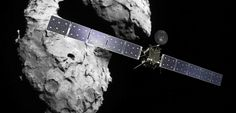 Une vue d'artiste de la sonde Rosetta devant la comète Tchouri. La première ira se poser sur la seconde en septembre 2016. ©ESA