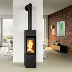 Products Archive - Oblica Melbourne | Modern Designer Fireplaces Log Burner Fireplace, Home Fireplace, Wood Burner, Modern Fireplace, Brick Fireplace, Living Room With Fireplace, Wood Burning Logs, Modern Stoves, Freestanding Fireplace