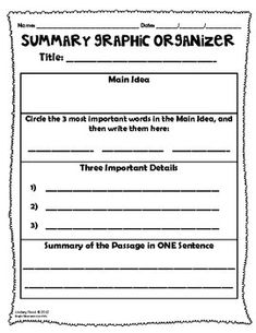 {FREE} Summary Graphic Organizers {FREE} Summary Graphic Organizers Original article and pictures take http://www. teacherspayteach...